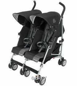 Maclaren 2019 Twin Triumph Double Stroller, Black/Charcoal New Open box