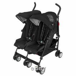 Maclaren BMW Twin Stroller BMW Twin Buggy Maclaren stroller WM1Y12500 Black D1