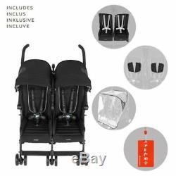 Maclaren BMW Twin Stroller, Black