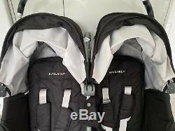 Maclaren Pushchair Twin Double Techno In Black Latest Design RRP £450
