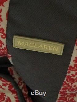 Maclaren Twin Lightweight Umbrella Fold Double Stroller Black and gray