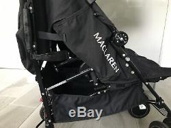 Maclaren Twin Techno Double Pushchair Stroller In Black RRP £395