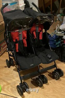 Maclaren Twin Techno XT Double Stroller includes comfort pack Local Pickup