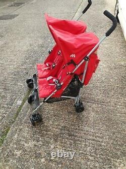 Maclaren Twin Triumph Black/red- Double Seat Stroller