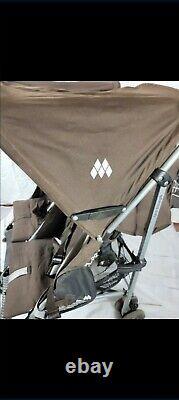 Maclaren Twin Triumph Double Stroller in Brown