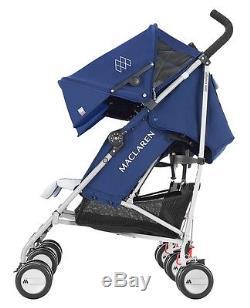 Maclaren Twin Triumph Lightweight Baby Double Stroller Medieval Blue / Silver