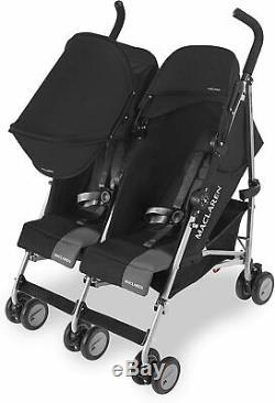 Maclaren Twin Triumph Stroller Double Buggy Pram Pushchair Push Chair Black New