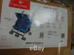 Maclaren WM1Y123312 Twin Triumph Denim Indigo Jean Double Stroller