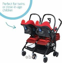 Maxi Cosi Dana For2 (pushchair for twins) vivid RED double stroller