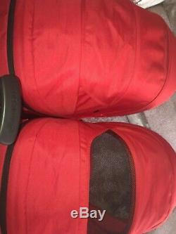 Maxi Cosi Dana For 2 Red Double Twin Pram Stroller