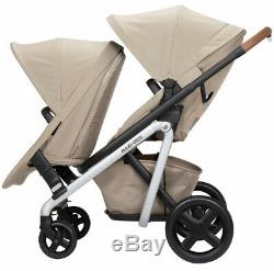 Maxi-Cosi Lila Modular Twin Baby Double Stroller w Second Seat Nomad Sand NEW