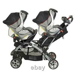 Millennium Baby Trend Sit N Stand Plus Double Stroller Twin Car Seat Carrier New