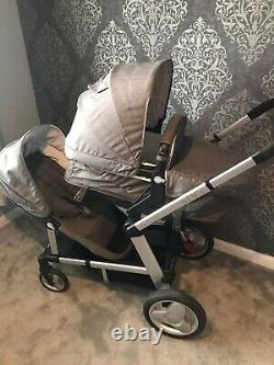 Mothercare Genie Tandem Single & Double Twin Pushchair Footmuff & Raincovers