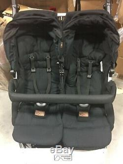 Mountain Buggy 2018 Duet Folding Baby Twin Double Stroller in Black