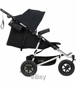 Mountain Buggy Duet V3 Compact All Terrain Twin Baby Double Stroller Black NEW