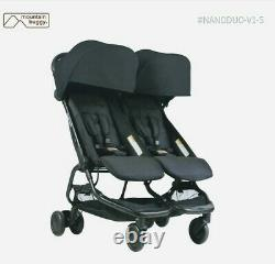 Mountain buggy nano twin carriage compact easy foldable