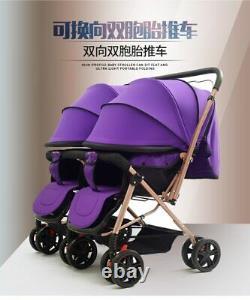 NEW 2020Twins Double Baby Stroller Can Sit Lie Lightweight Double Stroller Pram