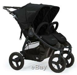NEW Bumbleride Indie Twin MATTE BLACK Adjustable Handle Foldable Stroller