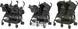 NEW Maxi Cosi Dana For 2 Twins Black Raven with Warranty