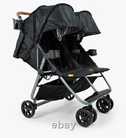 NEW ZOE XL2 Best Xtra Lightweight Double Stroller Black XL2-BNK Duo Twin
