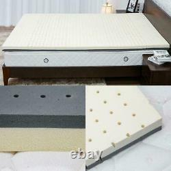 Nesaila Bamboo Charcoal Latex Mattress Topper 3.15 inch Double Layer Pad