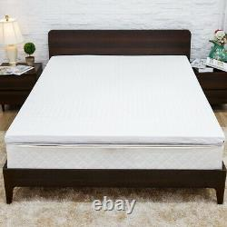 Nesaila Bamboo Charcoal Latex Mattress Topper Twin 3.15 inch Double Layer-SAVE
