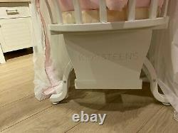 New Born Toddler Beds Single Wood Kids & Teens White Children Bed With Mattress