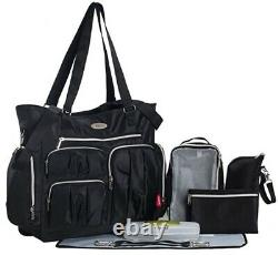 Newborn Twins Baby Double Stroller with 2 Car Seats Infant Playard Bag Combo Set