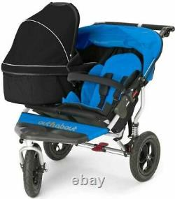 Out'N'About NIPPER DOUBLE CARRYCOT RAVEN BLACK Newborn Baby Twin Accessory BN