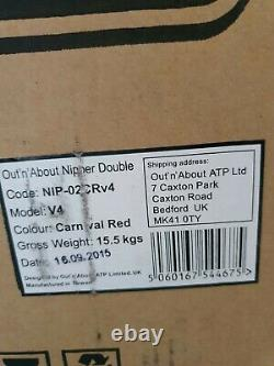Out n About DOUBLE Nipper 360 V4 (Carnival Red) All Terrain Twin