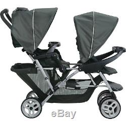 Portable Twin Baby Toddler Travel Stroller Folding Double Sit Stand Double NEW