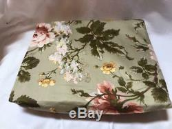 Ralph Lauren Yorkshire Rose Green Floral Full Fitted Sheet New
