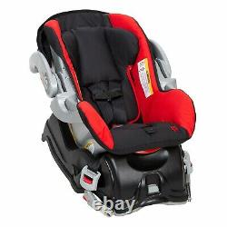 Red Baby Lite Double Stroller with Car Seats Twins Jogging Combo New Boxed