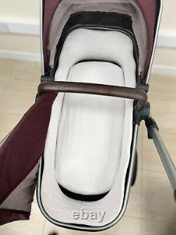 Silver Cross Wave Twin / Tandem / Double Travel System Claret Red