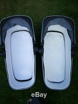 Silver Cross Wave double twin pushchair pram grey Granite grey