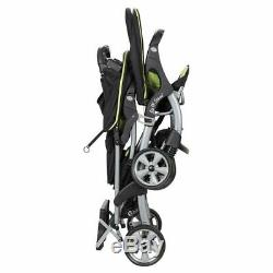 Sit N' Stand Boy Double Stroller Stand two Car Seat Twins Travel System Green
