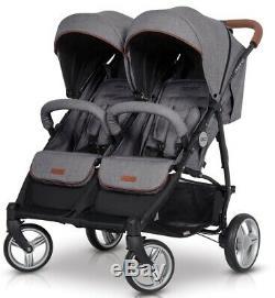 Stroller easyGo Domino for twins or two pushchiar trolley twin walker