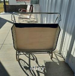 Stroller twin vintage antique retro. Three position backrest, adjustable footre