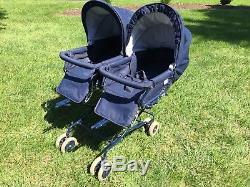 TWINDoubleBABY/TODDLER/INFANTINGLESINA BUGGY STROLLER PRAM NAVY BLUE