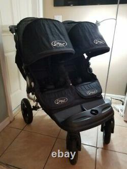 The Baby Jogger City Elite Twin Double Seat Stroller Side by Side, Black