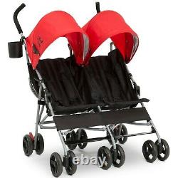 Toddler Double Stroller Baby Carriage Twin Babies Carrier Lightweight Swivel NEW