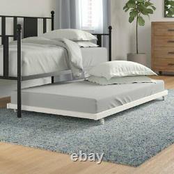 Trundle Unit Daybed Metal Modern Double Frame Bed Futon Bedroom Furniture Guest