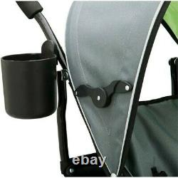 Twin Baby Double Stroller Toddler Carriage Folding Pushchair Infant Carrier New