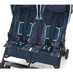 Twin Baby Double Stroller Toddler Folding Pushchair Infant Safety Travel Carrier