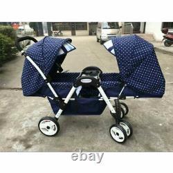 Twin Baby Stroller Four-wheel Shock Absorber Baby Can Sit Reclining Multi-range