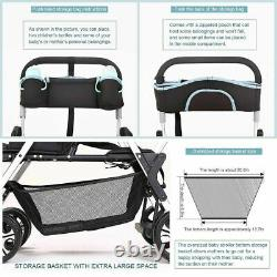 Twin Baby Stroller Sit Lying Lightweight for Infant Newborn Pram Double Carriage
