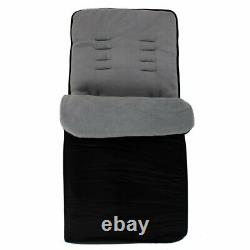 Twin Boys Grey Double Stroller Buggy Pushchair inc Raincover Bag & Footmuffs