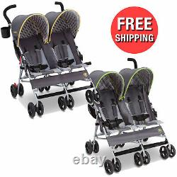 Twin Double Seat Stroller Children Baby Toddler Safety Harness Belt with Sun Visor
