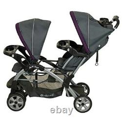 Twin Double Stroller Baby Kids Sit N Stand Toddler Travel System Pushchair Black