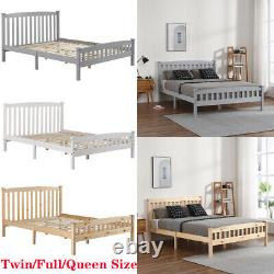 Twin/Full/Queen Size Wooden Platform Bed Frame Foundation withHeadboard Footboard